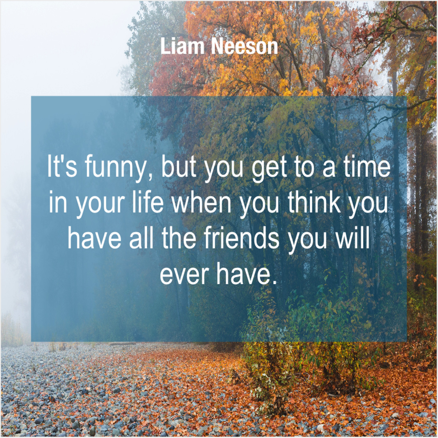 Liam Neeson It S Funny But You Get Do You Love Quotes